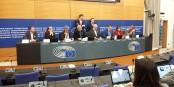 La délégation européenne ayant assisté au procès contre les séparatistes catalans à Madrid. Foto: Eurojournalist(e) / CC-BY-SA 4.0int