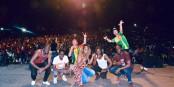 "Die Zweierpaschs beim Festival ""Rapou Dogo Kun"" in Bamako, Mali. Foto: (c) Zweierpasch"