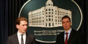 Le Président Vucic avec Sebastian Kurz (g.) à Belgrade  Foto: BfEIÄ/Wikimédia Commons/CC-BY-SA 2.0Gen