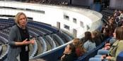 C'est au Parlement Européen qu'à commencé la série de projets des jeunes Allemands et Français. Foto: (c) Philipppe Choukroun