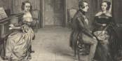 """""""Oh Angèle, liebst du misch nischt mähr?"""" - """"Nu lass mir mal und du, Ännchen, hör mit dem Jeklimper uff und schreib dem Herrn ne Antwort""""... Foto: J. Castille / Wikimedia Commons / PD"""