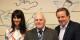 Le président de la FEFA Jean-Claude Klinkert (milieu) avec les époux Mack lors de la remise de la toile à Europapark. Foto: (c) Laurent Heitzmann