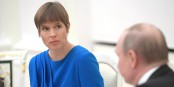 Kersti Kaljulaid, la Présidente estonienne, avec... avec...  Foto: The Presidential Press & Information Office /Wikimédia Commons/CC-BY-SA 4.0Int