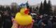 En Serbie comme en Russie, le Canard Jaune est le symbole de la lutte des citoyens contre la corruption Foto: Daggets/Wikimédia Commons/CC-BY-SA 4.0Int