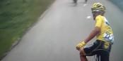 Der Moment, in dem Julien Alaphilippe die Tour de France 2019 verlor - die 19. Etappe musste abgebrochen werden. Foto: ScS EJ