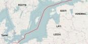 Dans la Baltique, de la Russie à Greifswald , le projet de gazoduc Nord Stream 2, déjà largement réalisé  Foto: Open StreetMap/Wikimédia Commons/CC-BY-SA 2.0Gen