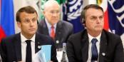So friedlich dürfte man Emmanuel Macron und Jair Bolsonaro künftig nicht mehr zusammen sehen... Foto: Palacio do Planalto from Brasilia, Brasil / Wikimedia Commons / CC-BY 2.0