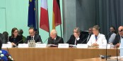 """Sous les yeux de la secrétaire d'état Amélie de Montchalin et du ministre Heiko Maas, le """"Parlement franco-allemand"""" a progressé. Foto: (c) Sylvain Waserman"""