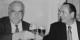 """Helmut Kohl und Jacques Chirac verband eine Männerfreundschaft - die sie unter anderem bei """"Chez Yvonne"""" in Strasbourg zeigten. Foto: FEFA"""