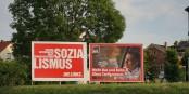 Wahlplakate aus Sachsen, wie aus einem anderen Jahrzehnt. Dabei schreiben wir das Jahr 2019... Foto: PantheraLeo1359531 / Wikimedia Commons / CC-BY-SA 4.0int