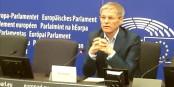 L'ex Premier ministre roumain Dacias Ciolos, dirigeant du groupe centriste européen Renew Europe à Strasbourg, le 18 septembre  Foto: marcchaudeur