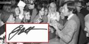 Ein Bild von Anno Domini 1969 - Gott gibt Autogramme. Foto: Stadtarchiv Kiel / Friedrich Magnussen