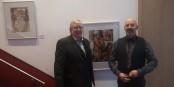"""Manfred Hammes und Rainer Ehrt in der Ausstellung """"Begegnungen - Rencontres"""" und der Vorstellung des gleichnamigen Buchs. Foto: Eurojournalist(e)"""
