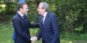 Emmanuel Macron und Roland Ries scheinen sich verständigt zu haben - nur worauf? Foto: Eurojournalist(e) / CC-BY-SA 4.0int