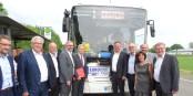 """Ils sont fiers et ils peuvent l'être - les """"architectes"""" du """"Bus Eurodistrict"""". Foto: (c) Eurodistrict Strasbourg-Ortenau"""