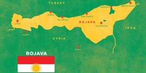 Le  Rojava (50 000 kms carrés)  Foto: Kurdische Gemeinde Deutschland e.V.