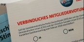 """2018 stimmten die SPD-Mitglieder noch für die """"Groko"""" - und jetzt wollen alle am liebsten 'raus. Foto: Udo Brechtel / Wikimedia Commons / CC0 1.0"""