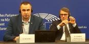 Oleh Sentsov hier à Strasbourg avec David Sassoli, le Président du PE. Foto: marcchaudeur / Eurojournalist(e) / CC-BY-SA 4.0int