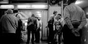 Bahnhof Friedrichstrasse, Berlin 1986... Foto: (c) Michael Magercord / ROPI
