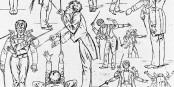 Gustav Mahler, der die Musik lebte und erlebbar machte... Foto: Karikatur Hans Schliessmann / PD