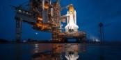 """Die Rakete für die """"Klima-Mondlandung"""" steht noch in der Rampe, doch der Motor stottert bereits. Foto: Bill Ingalls / NASA / Wikimedia Commons / PD"""