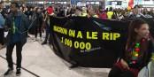 Auf der Strasse, in den Bahnhöfen oder wie hier am Wochenende auf den Flughäfen - Streiks und Proteste prägen die Adventszeit in Frankreich. Foto: Eurojournalist(e) / CC-BY-SA 4.0int