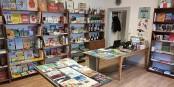 """La librairie """"L'Idéodrome"""" à Bischheim. Foto: Hans See"""