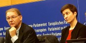 «Notre force de frappe restera intacte» - Ska Keller et Philippe Lamberts, députés européens Verts Foto: mchaudeur  / Eurojournalist(e) / CC-BY-SA 4.0int