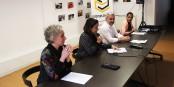 """Audrey, Imène, David et Yamina lors de l'annonce d'une liste citoyenne, les """"Citoyens engagés"""" hier à Strasbourg. Foto: Eurojournalist(e) / CC-BY-SA 4.0int"""