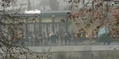 Après la manifestation à Strasbourg, une poignée d'idiots a tenté de faire irruption dans un centre commercial. Mais ils ont heureusement échoué. Foto: Christine Faivre / CC-BY-SA 4.0int