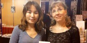 Emilie Maj en compagnie de la traductrice et écrivaine mongole Munkhzun Renchin  Foto: marcchaudeur/Eurojournalist/
