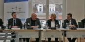 Bei der gestrigen Podiumsdiskussion - Felix Braun, Moderator Kai Littmann, Rita Hagl-Kehl und Minister Peter Hauk. Foto: ZfS / Svenja Roth