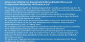 """Diese """"Gemeinsame Erklärung"""" wird nur noch weiter Öl ins Feuer giessen... Foto: Tweet Bundesregierung"""