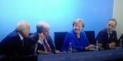 Nach der Konferenz waren Ghassan Salamé, Antonio Guterres, Angela Merkel und Heiko Maas ganz schön zufrieden... Foto: ScS EJ