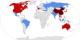 La situation ce week-end, sur la base de données de l'OMS - en rouge, infections confirmées, en bleu, infections suspectées. Foto: Pharexia / Wikimedia Commons / CC-BY-SA 4.0int