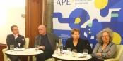 La démocratie, le citoyen et l'Europe à l'APE : Ondrej Kovarik, Kai LIttmann, Anne Sander et Marine de Lassalle  Foto: marcchaudeur/Eurojournalist(e)/CC-BY-SA/4.0Int