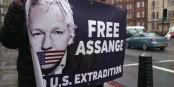 """Der Ruf geht durch die ganze """"freie"""" Welt - lasst Julian Assange endlich frei! Foto: ScS EJ"""