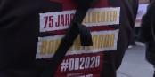 """""""75 Jahre alliierter Bombenterror""""... die Vereinnahmung des Dramas von dresden durch Neonazis ist unerträglich. Foto: ScS EJ"""