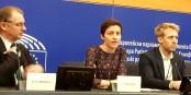 Les députés Verts Ska Keller et Philippe Lamberts hier au Parlement Européen  Foto: marcchaudeur/eurojournalist(e)/CC-BY-SA/4.0Int