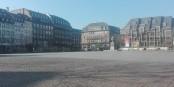 Eine unwirkliche Stimmung - der zentrale Kléber-Platz in Strasbourg menschenleer... Foto: Eurojournalist(e) / CC-BY-SA 4.0int