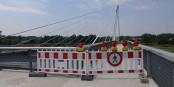 Auch diese Absperrung verschwindet nun - doch die Grenze bleibt weiter geschlossen. Foto: (c) Stadt Kehl / A. Lipowsky