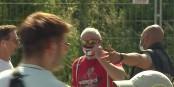 Ausnahmsweise mit Mundschutz. Aber was für ein Mundschutz... Foto: ScS EJ
