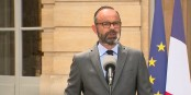Premierminister Edouard Philippe bei der Verkündung des Wahltermins. Ob das gut geht? Foto: ScS EJ