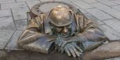 Bratislava : un travailleur à terre  Foto: Diego Delso/Wikimédia Commons/CC-BY-SA/4.0Int