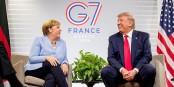 Solche Bilder wird es vom G7-Gipfel in den USA nicht geben - nach Angela Merkels Absage hat Trump den ganzen Gipfel gestrichen. Foto: Executive Office of the President of the United States, DonaldTrump / Wikimedia Commons / PD