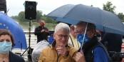 """Jeanne Barseghian (Grüne, von Anfang an dabei), Peter Cleiss und Erny Jacky - der """"Hochadel der grenzüberschreitenden Freundschaft""""! Foto: Eurojournalist(e) / CC-BY-SA 4.0int"""