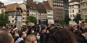 Gegen Rassismus und Polizeigewalt - Demonstranten in Strassburg. Foto: (c) Eric Schultz