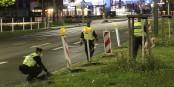 Das war die Grenzöffnung. Die Polizei räumt Warnhütchen und Schilder weg. Mehr war nicht... Foto: Eurojournalist(e) / CC-BY-SA 4.0int