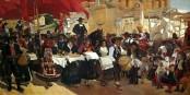 « Castilla, la fiesta del pan », moitié gauche d'un tableau de Joaquín Sorolla (1863-1923). Foto: Hispanic Society of America / Wikimedia Commons / PD