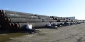 Du producteur de ces tuyaux géants jusqu'à l'entreprise qui les pose sur le fond de la Baltique, tout le monde risque des sanctions américaines. Foto: Gerd Fahrenhorst / Wikimedia Commons / CC-BY-SA 4.0int